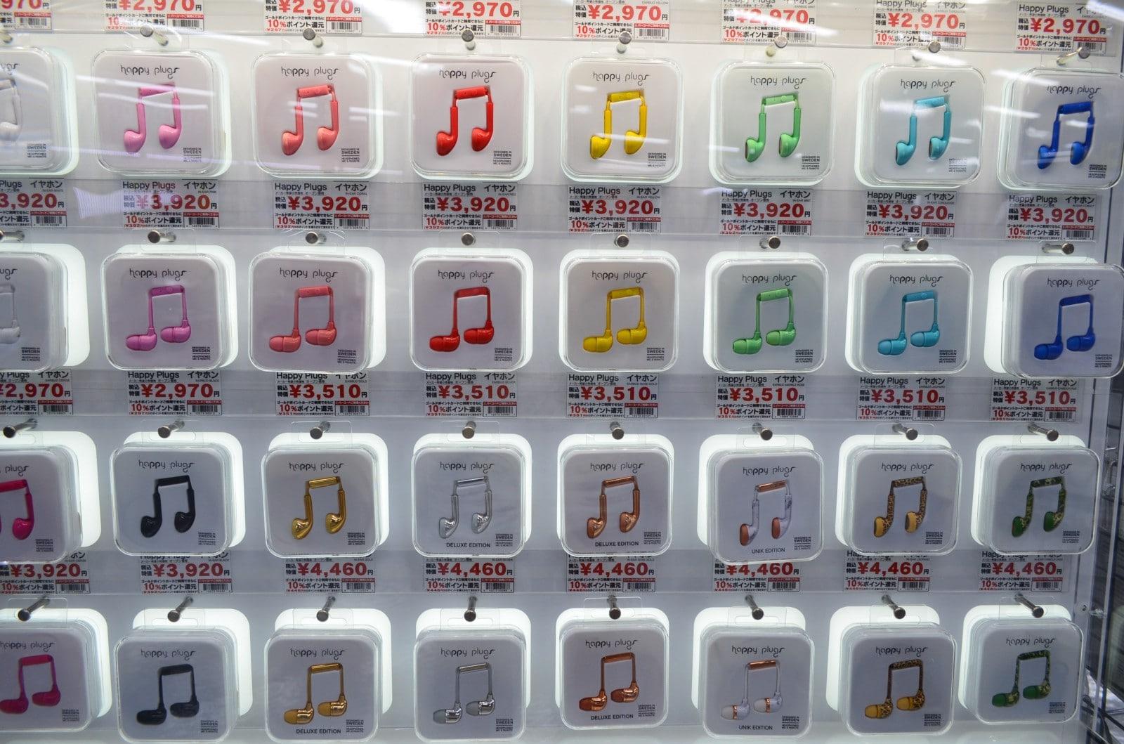 Earphones at Yodobashi-Akiba