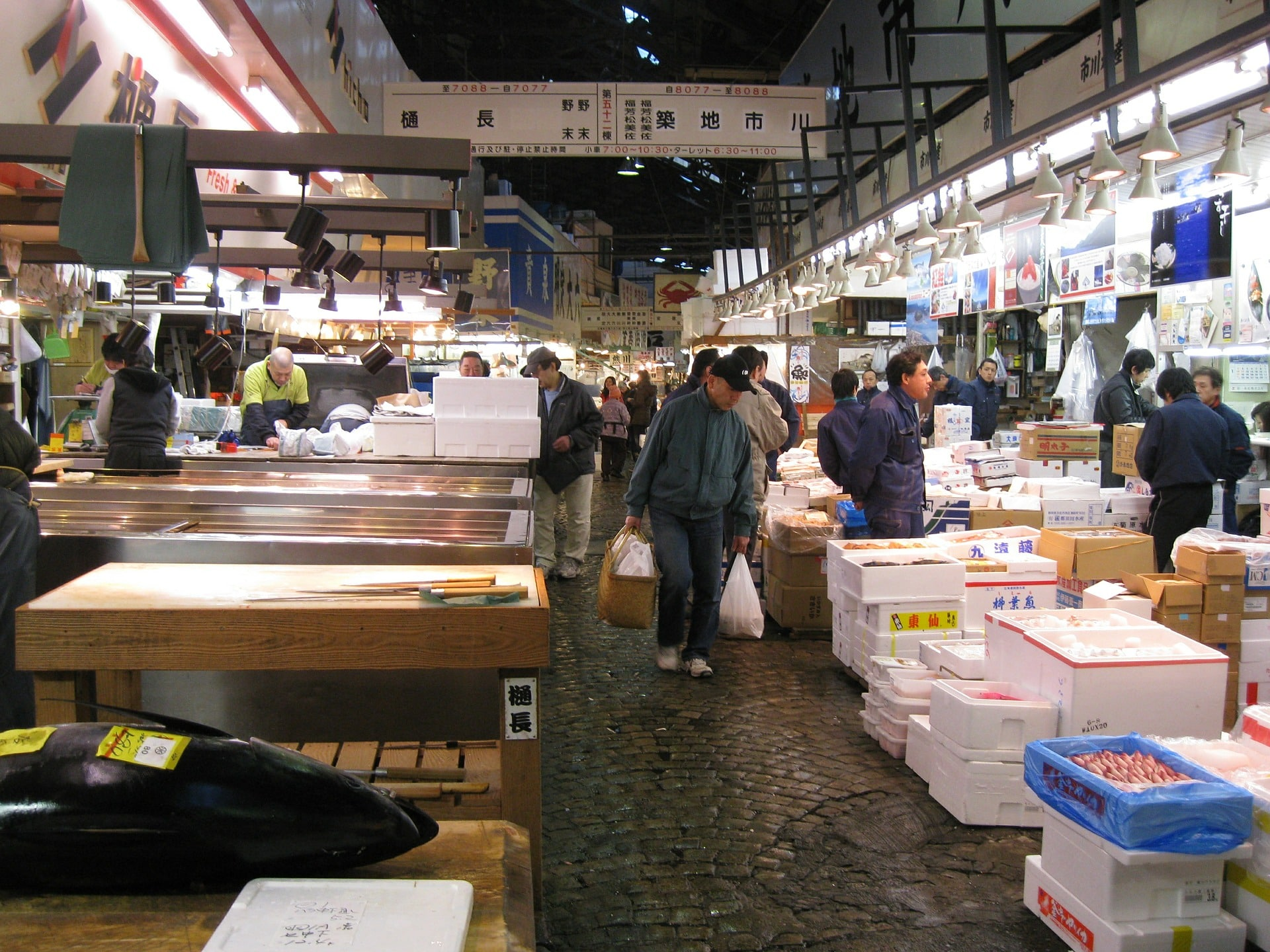 Tsukiji Inner Fish Market which is now closed.