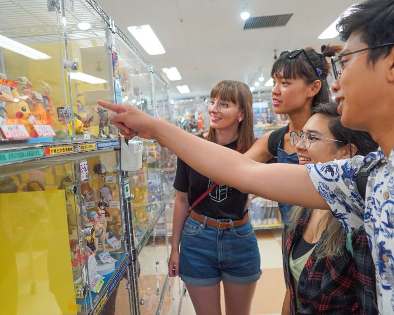 People enjoying shopping character toys in Akihabara