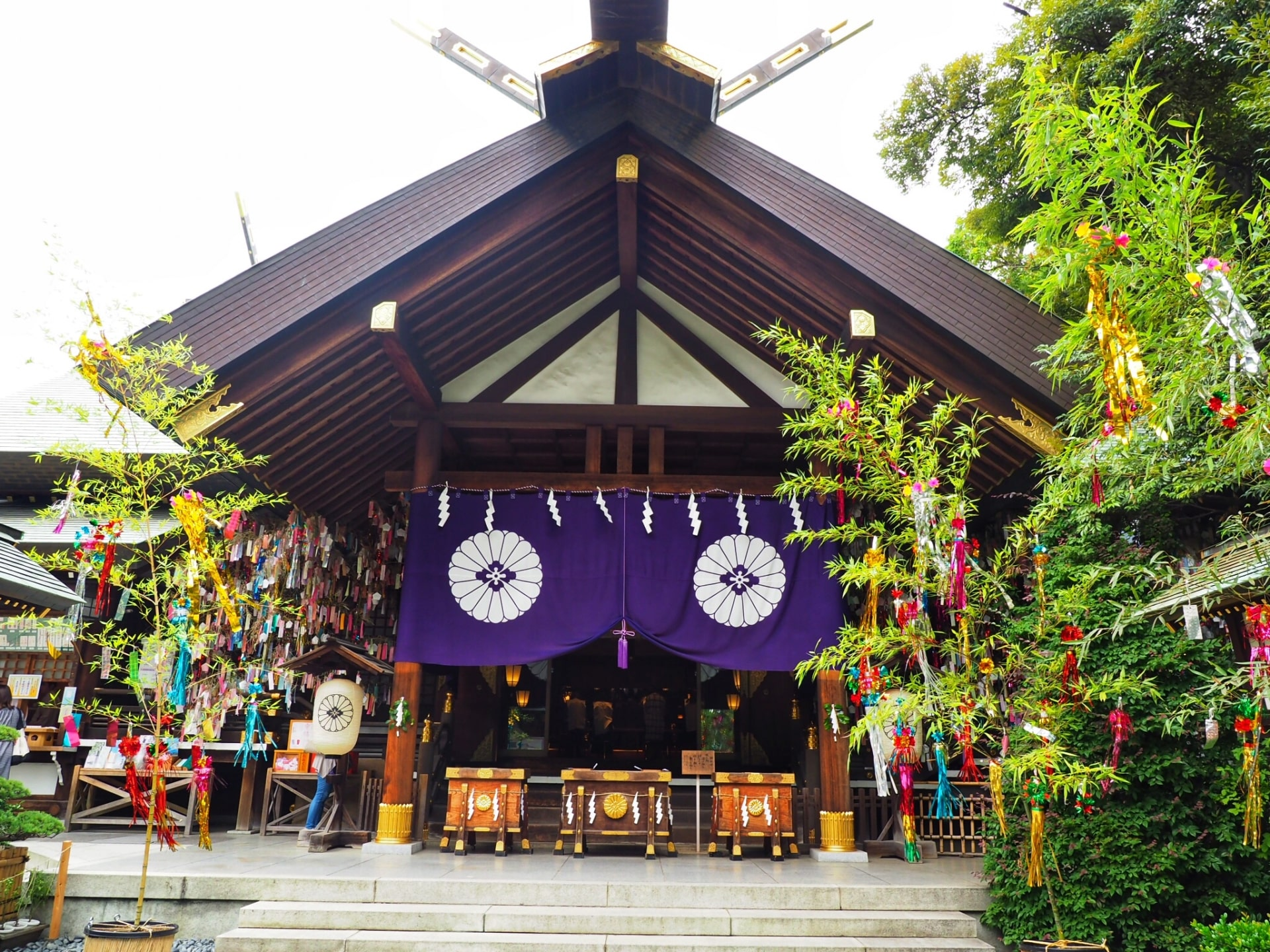The main hall of Tokyo Daijingu Shrine