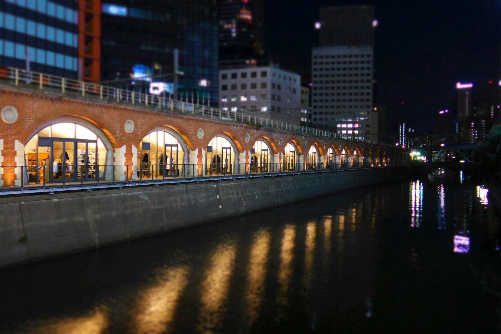 Manseibashi Station at night