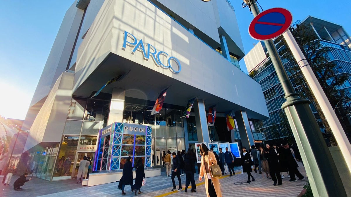 Entrance of the newly-opened Shibuya Parco