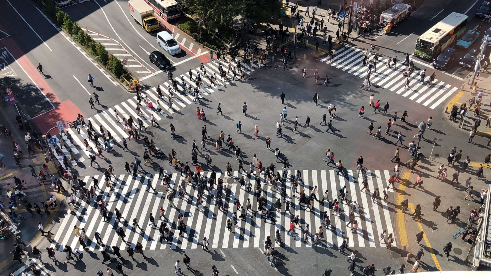 People crossing Shibuya Crossing