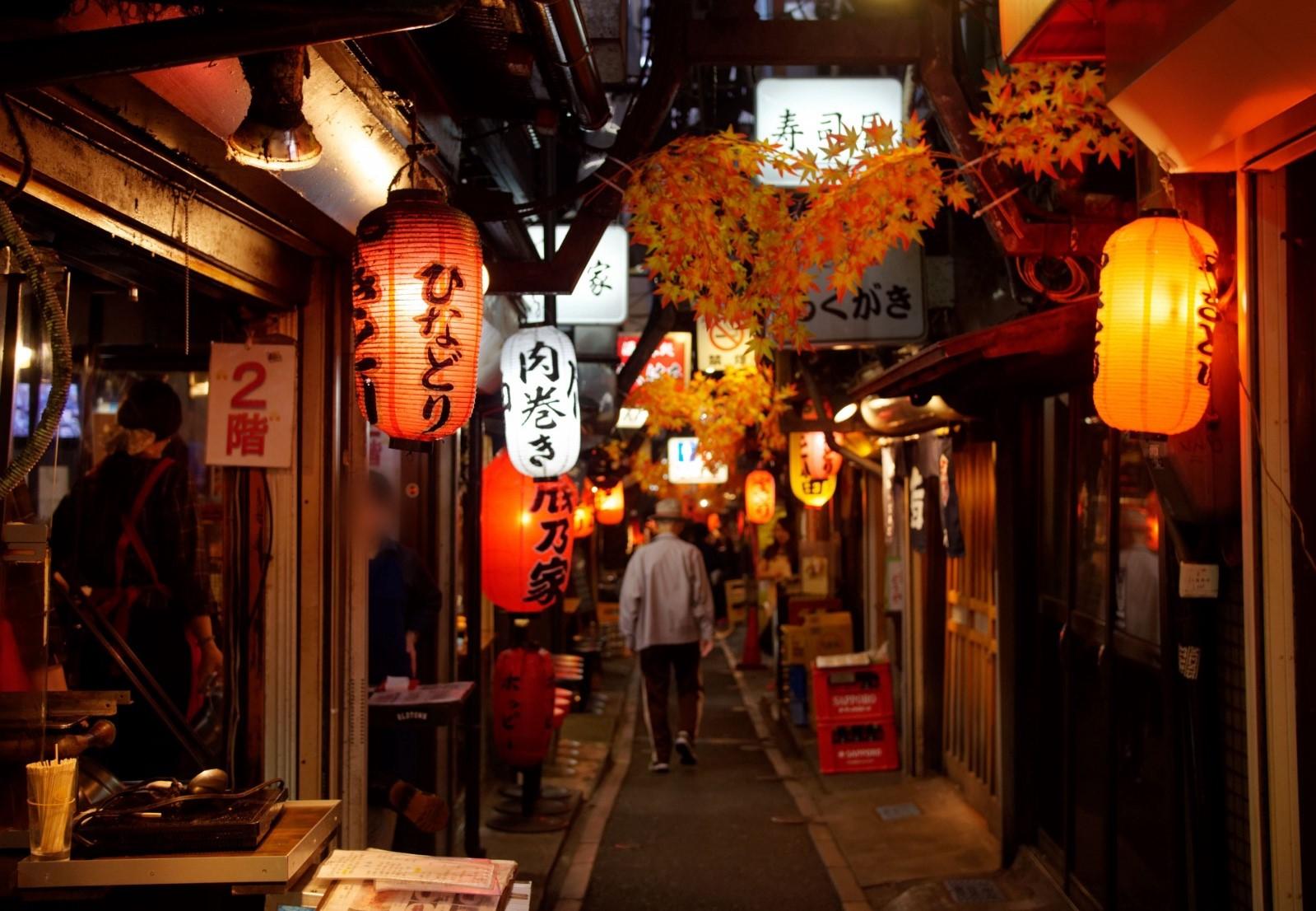 Traditional Japanese style Izakaya Alley