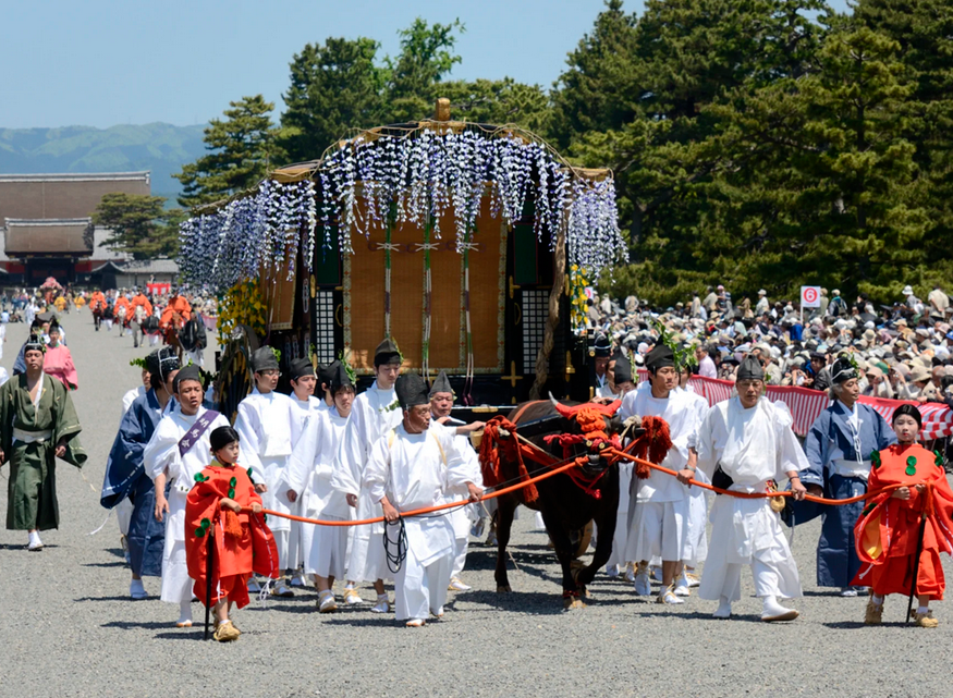Aoi Matsuri held at Shimogamo Shrine and Kamigamo Shrine in May