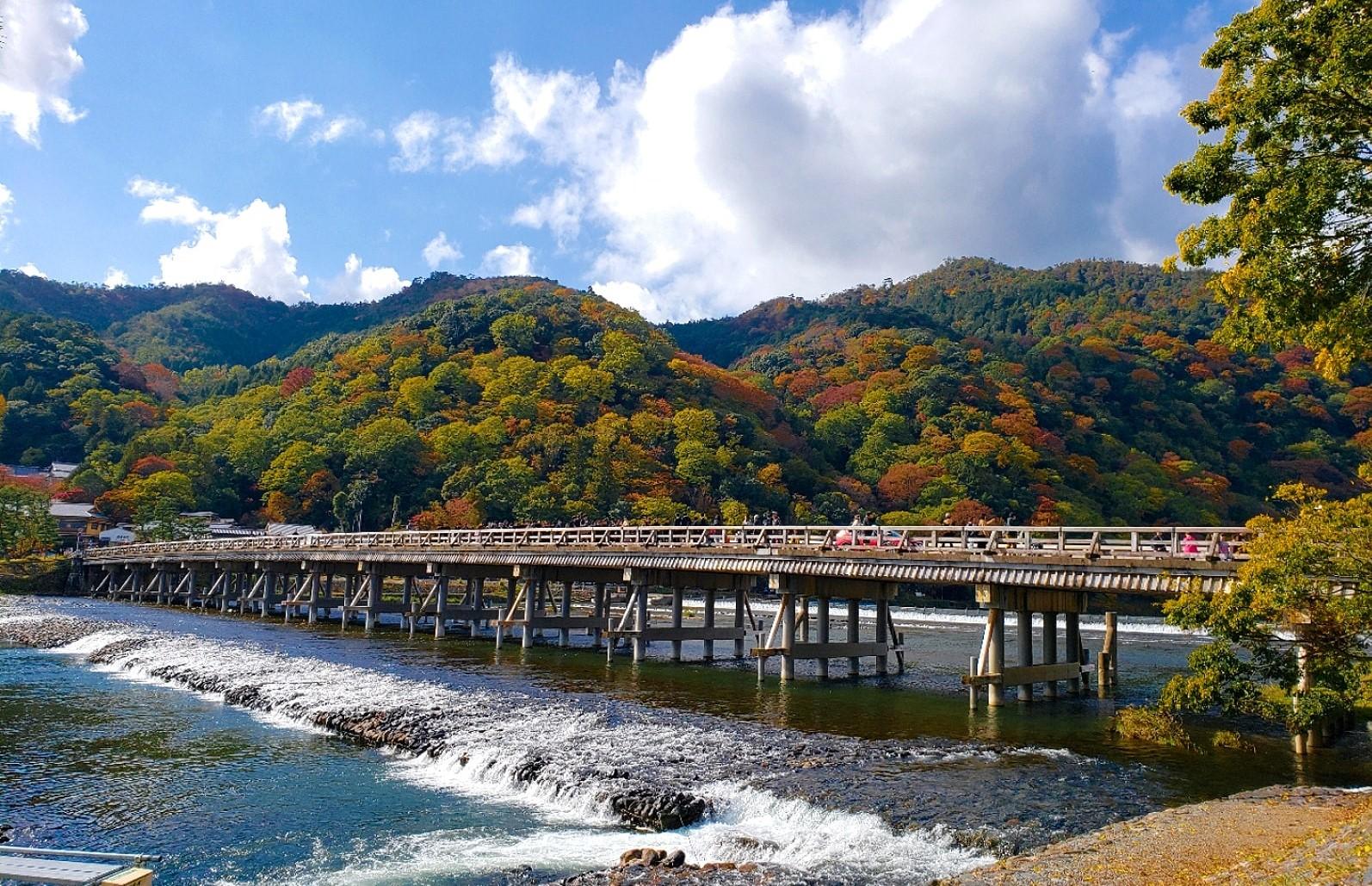 Togetsukyo Bridge in Arashiyama