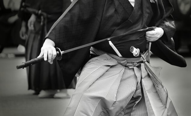 The samurai practice of sword