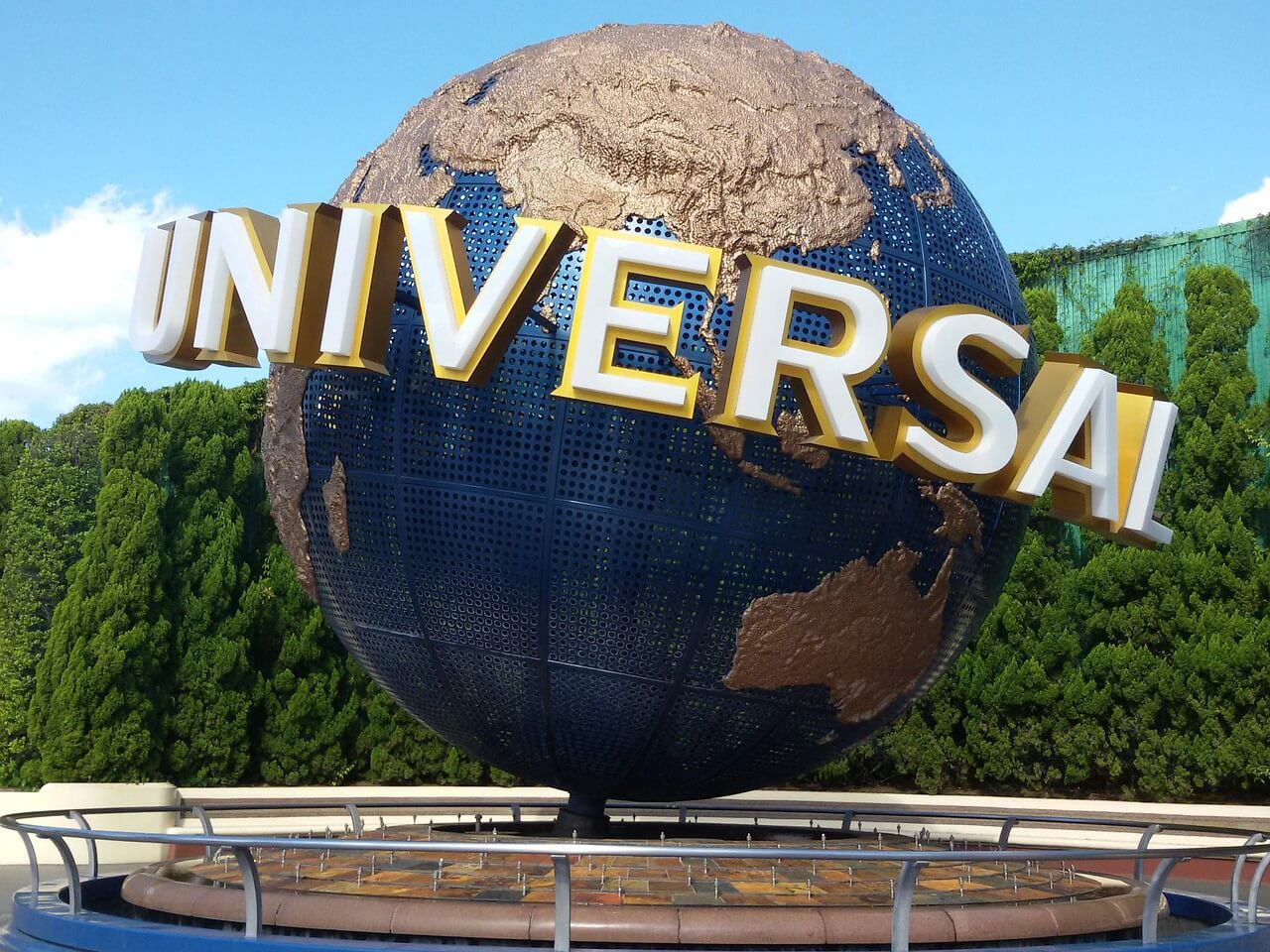The entrance of Universal Studios Japan