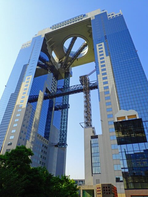 Umeda Sky Building, the famous landmark of Osaka