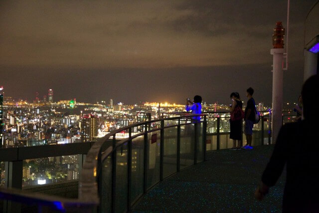"The observation deck ""Kuchu Teien"" at Umeda Sky Building"