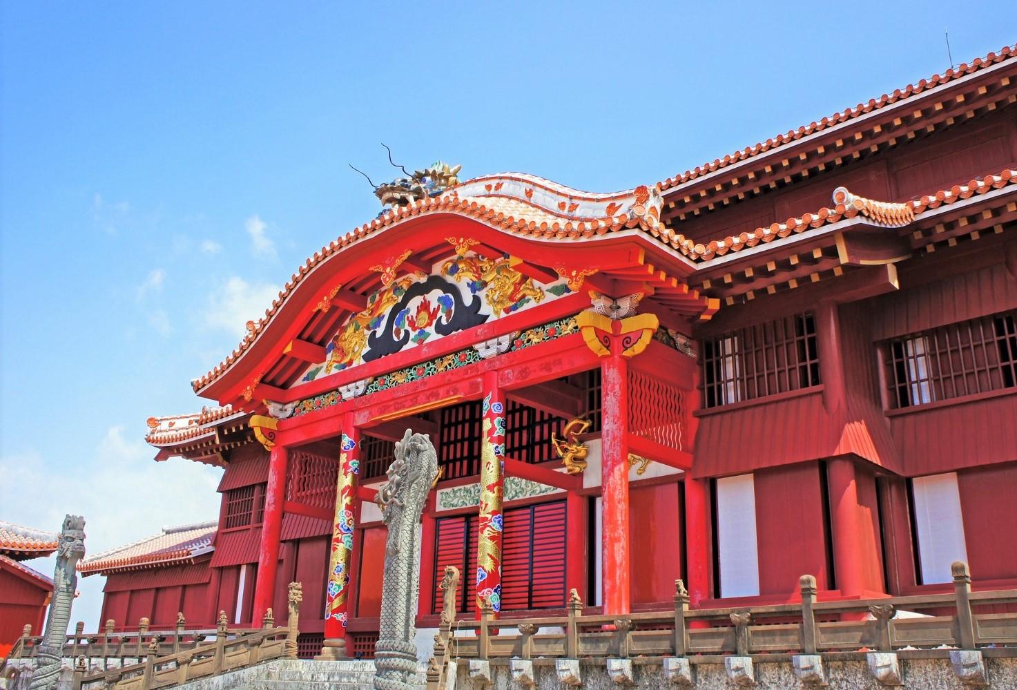 The UNESCO World Heritage Site, Shuri Castle in Okinawa