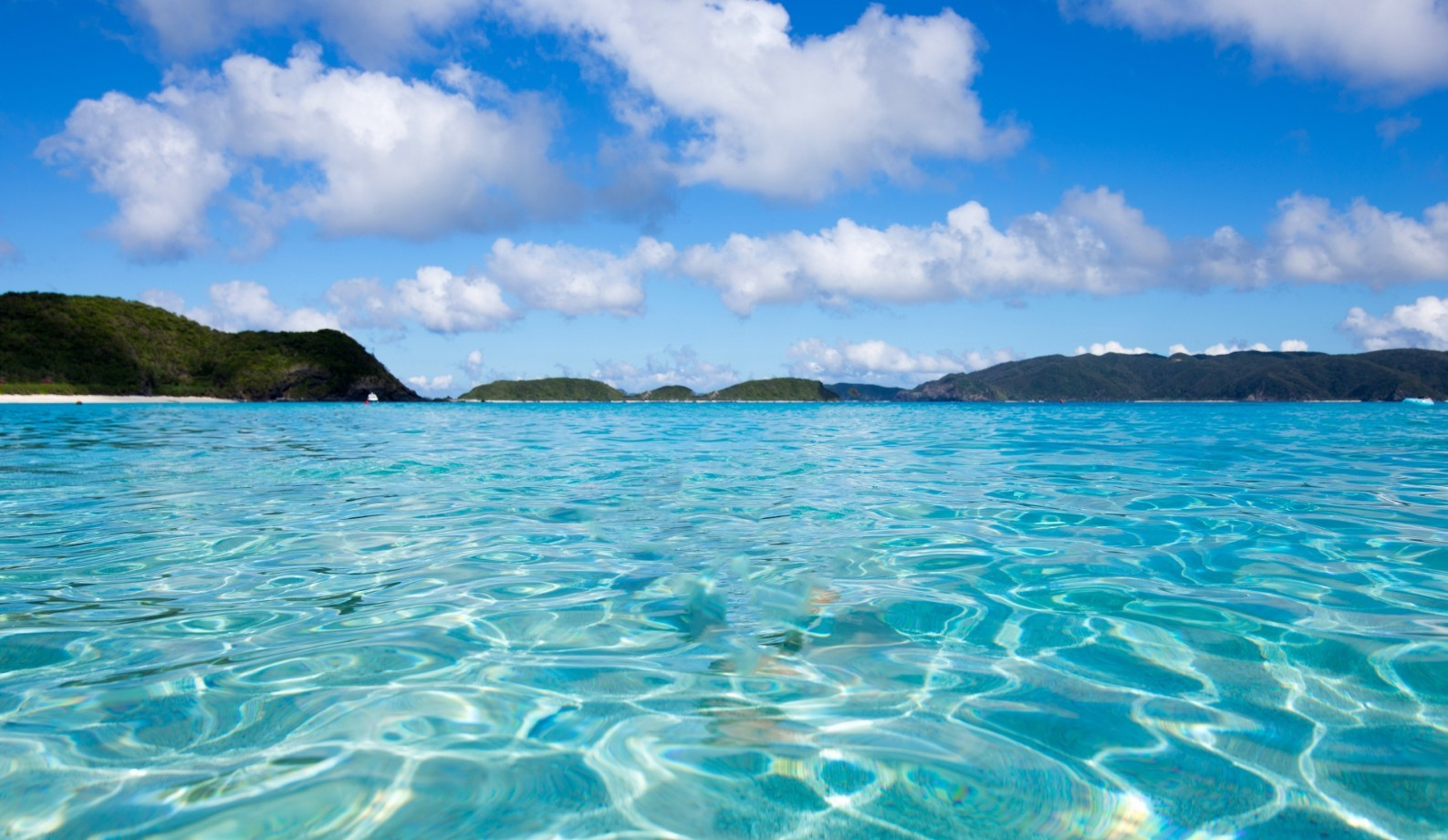Crystal clear water around Zamami Island