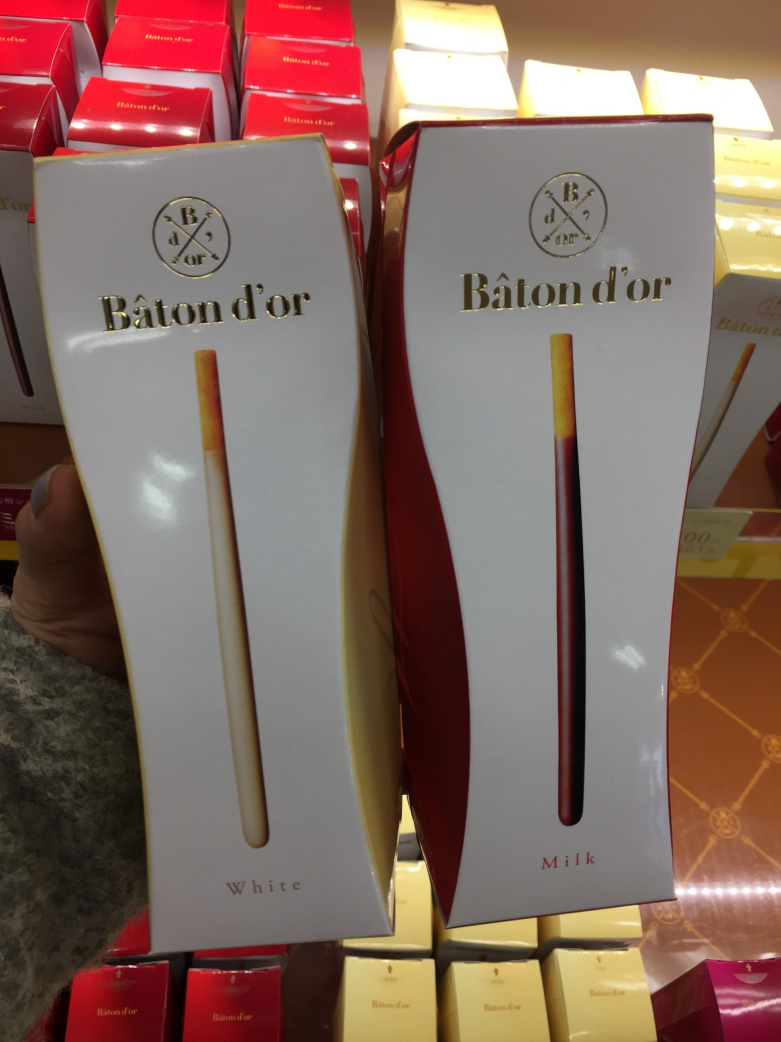 Baton d'or in white and milk chocolate flavour