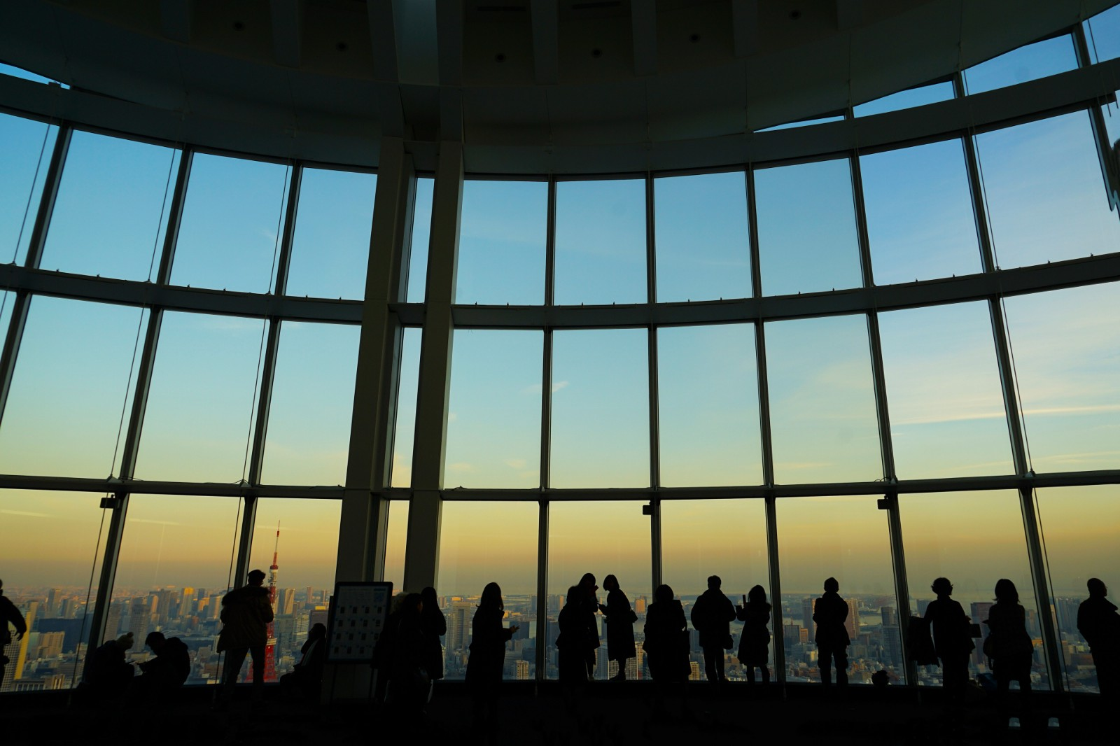 "The observation deck ""Tokyo City View"" at Roppingi Hills Mori Tower"