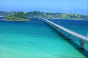 Tsunoshima Bridge: Drive across the Turquoise Blue Ocean