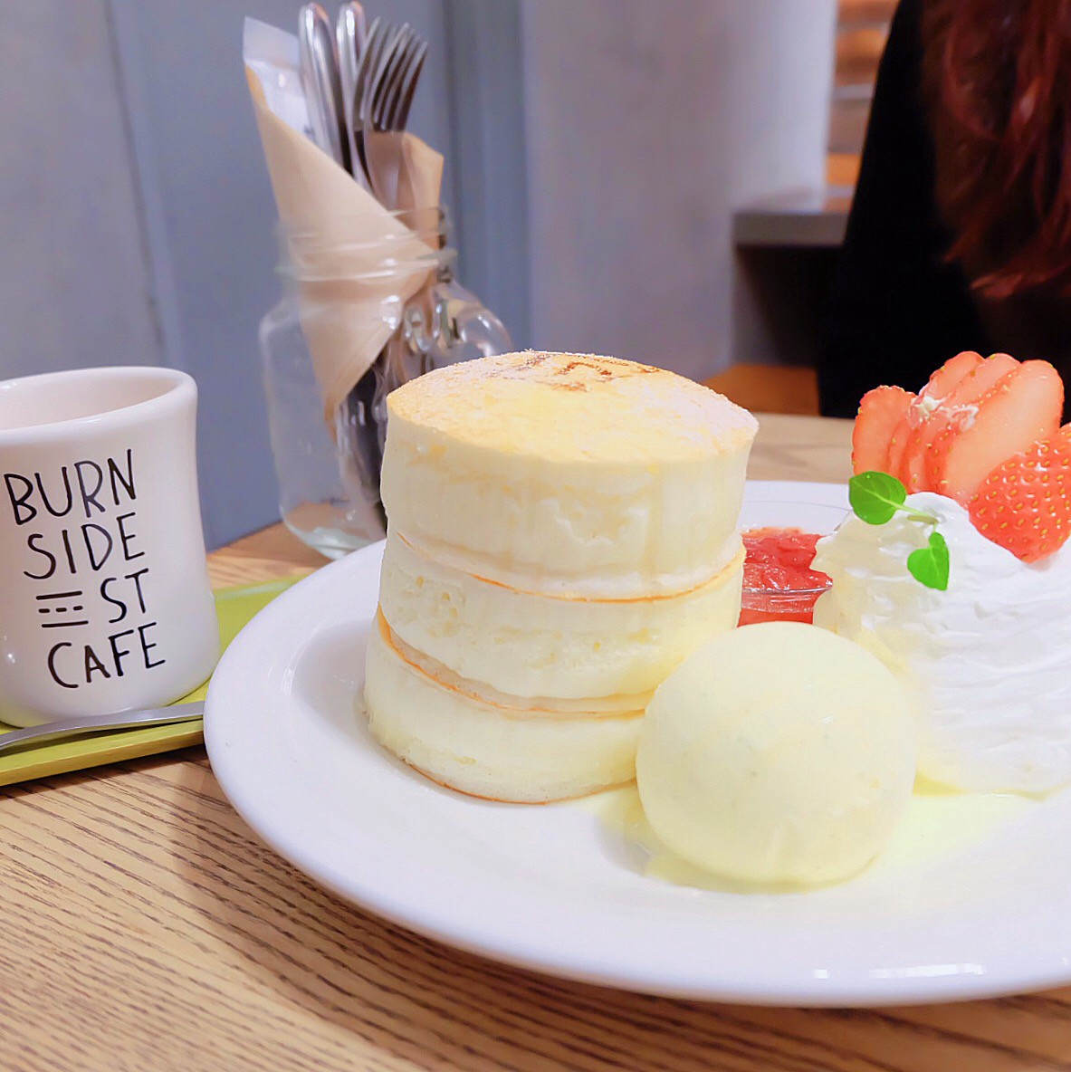 Delicious and photo-worthy pancakes in Shibuya's cafe