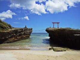 The scenic view at Shirahama Beach in Shimoda, Izu