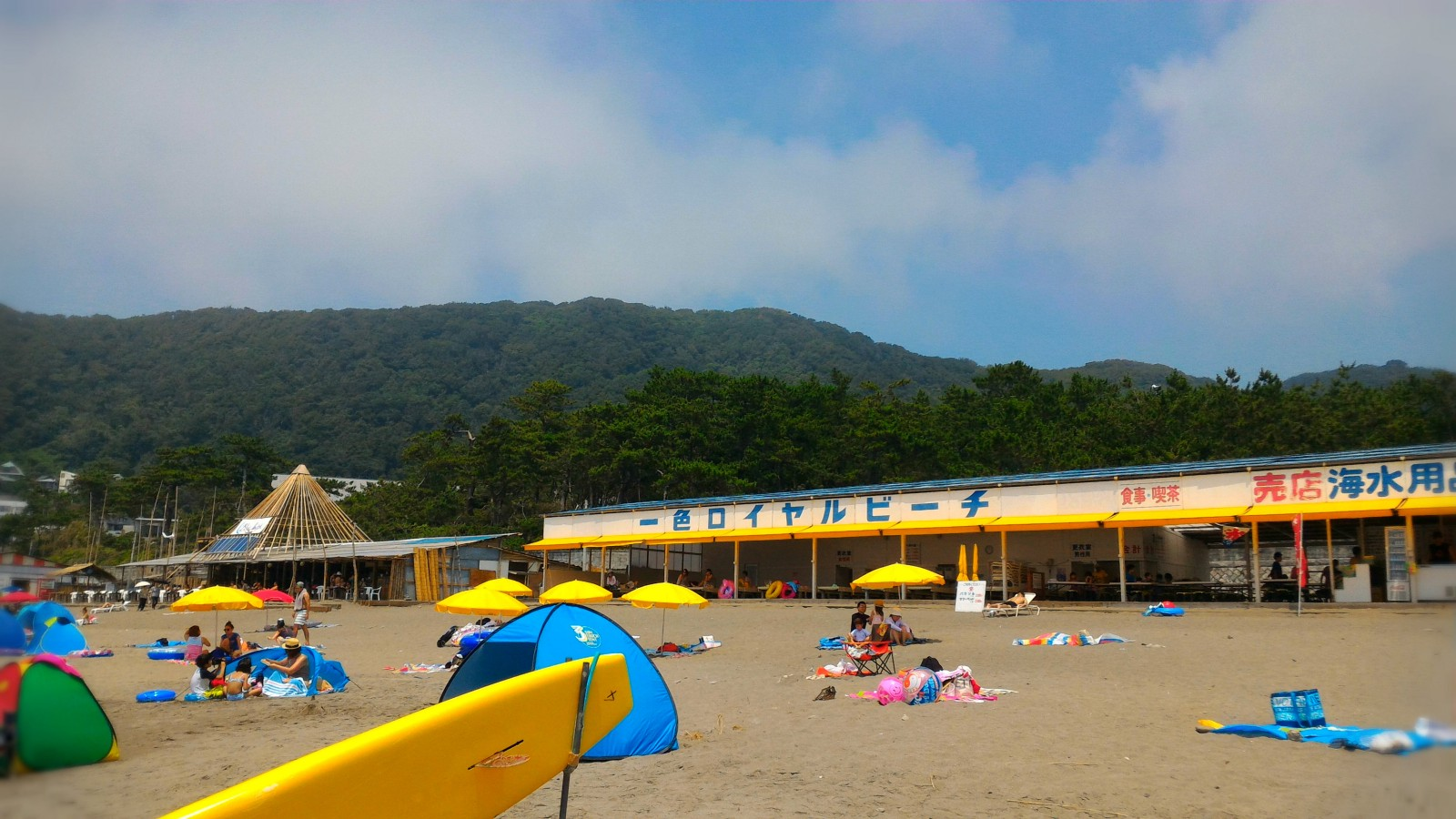 Isshiki Beach offering relaxing and chilled atmosphere