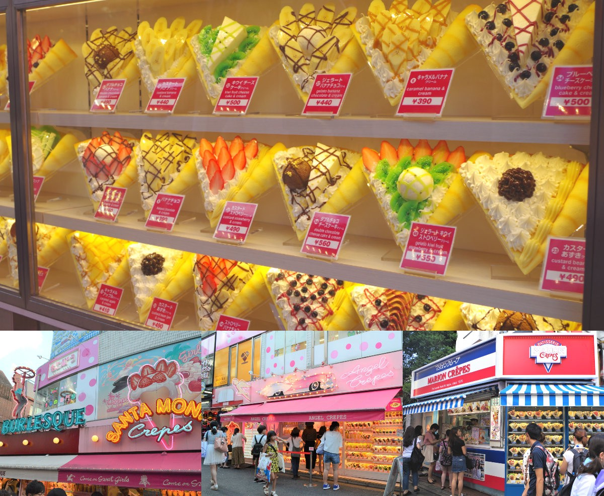 best crepe shops at Takeshita Street, Harajuku
