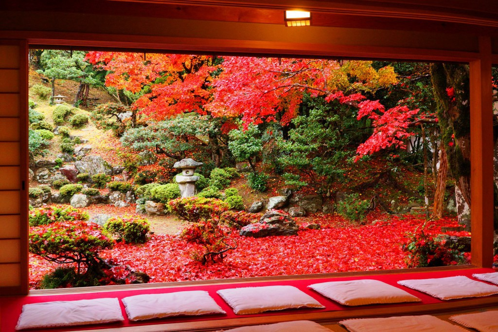 The breathtaking autumn scenery at Seiryu-ji Tokugen-in Temple, Shiga