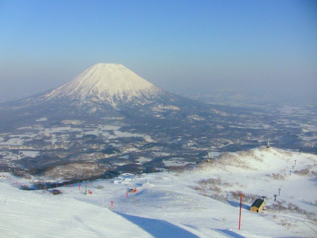 Niseko Ski Resort with the view of Mt Yotei