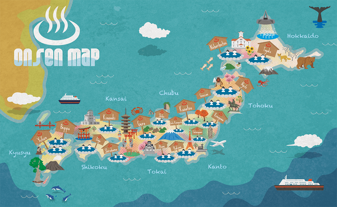Best Hot Springs in Japan : Japan Onsen Map