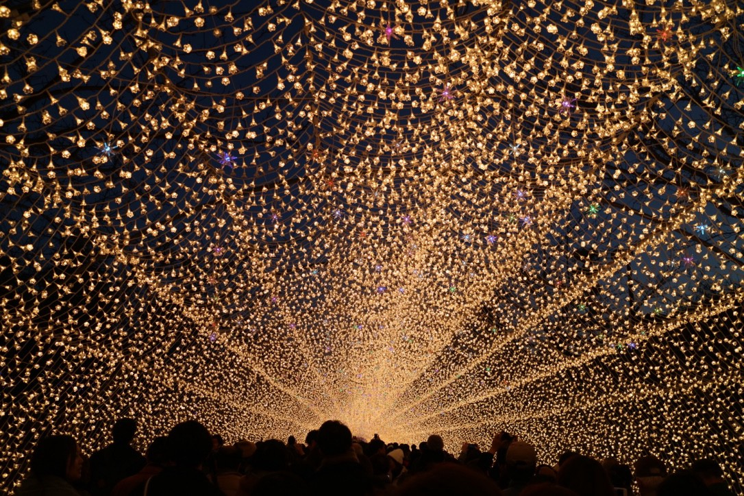 The spectacular winter illumination at Nabana no Sato