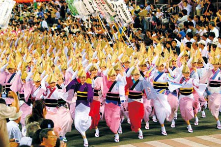 """Awa Odori"", the traditional dance festival from Tokushima Prefecture"