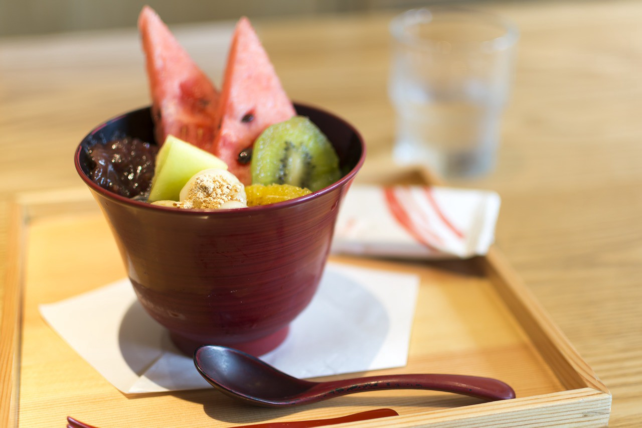 """Anmitsu"" a typical summer dessert in Japan"
