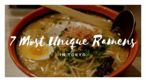 7 Most Unique Ramen Restaurants in Tokyo