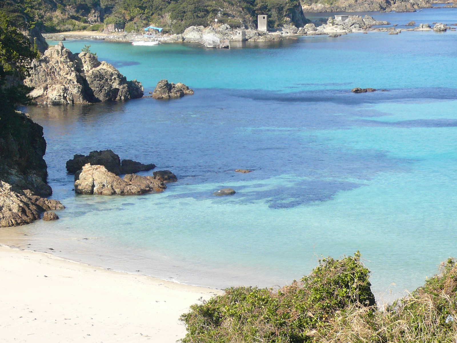 Shirahama Beach in Izu with White Sand and Clear Water
