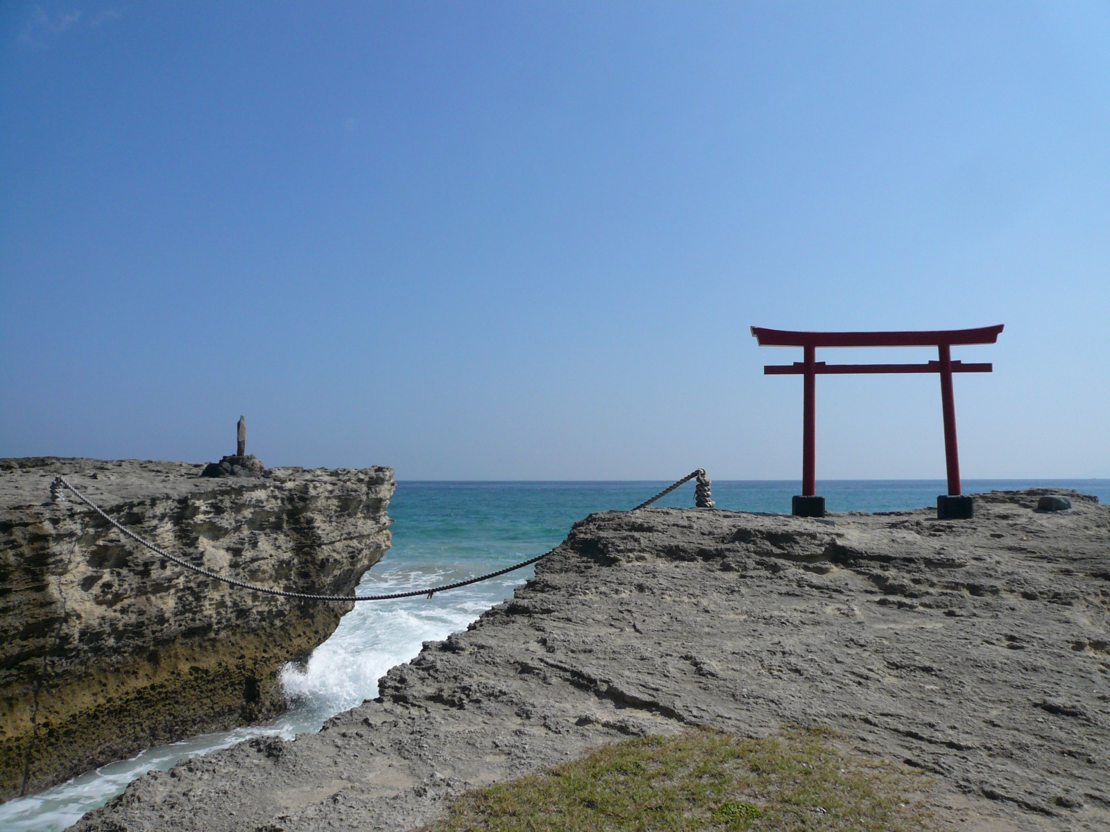The Iconic Torii Gate at Shirahama Beach