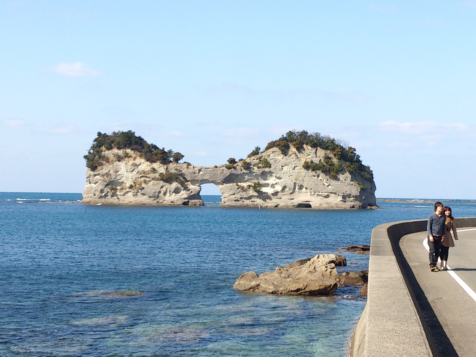 The scenic view around Shirahama Beach