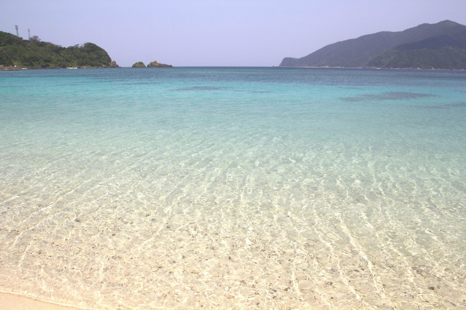 Clear blue water of the beach in Amami Oshima Island