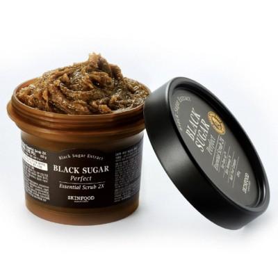 Пища для кожи черный сахар идеальный эфирный скраб 2X