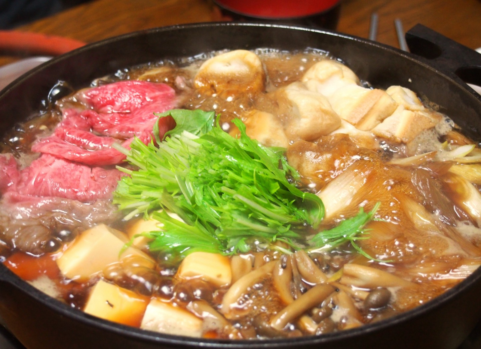 Delicious and warm Nabe (Japanese hot pot dish)