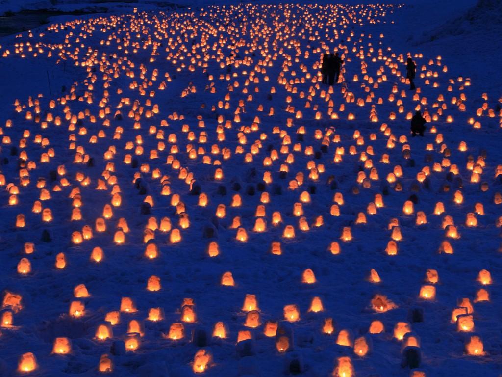 Yokote Kamakura Snow Festival 2020