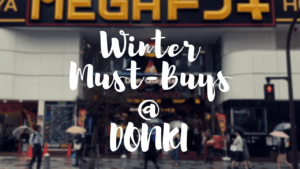 What to Buy at Don Quijote in Japan in Winter