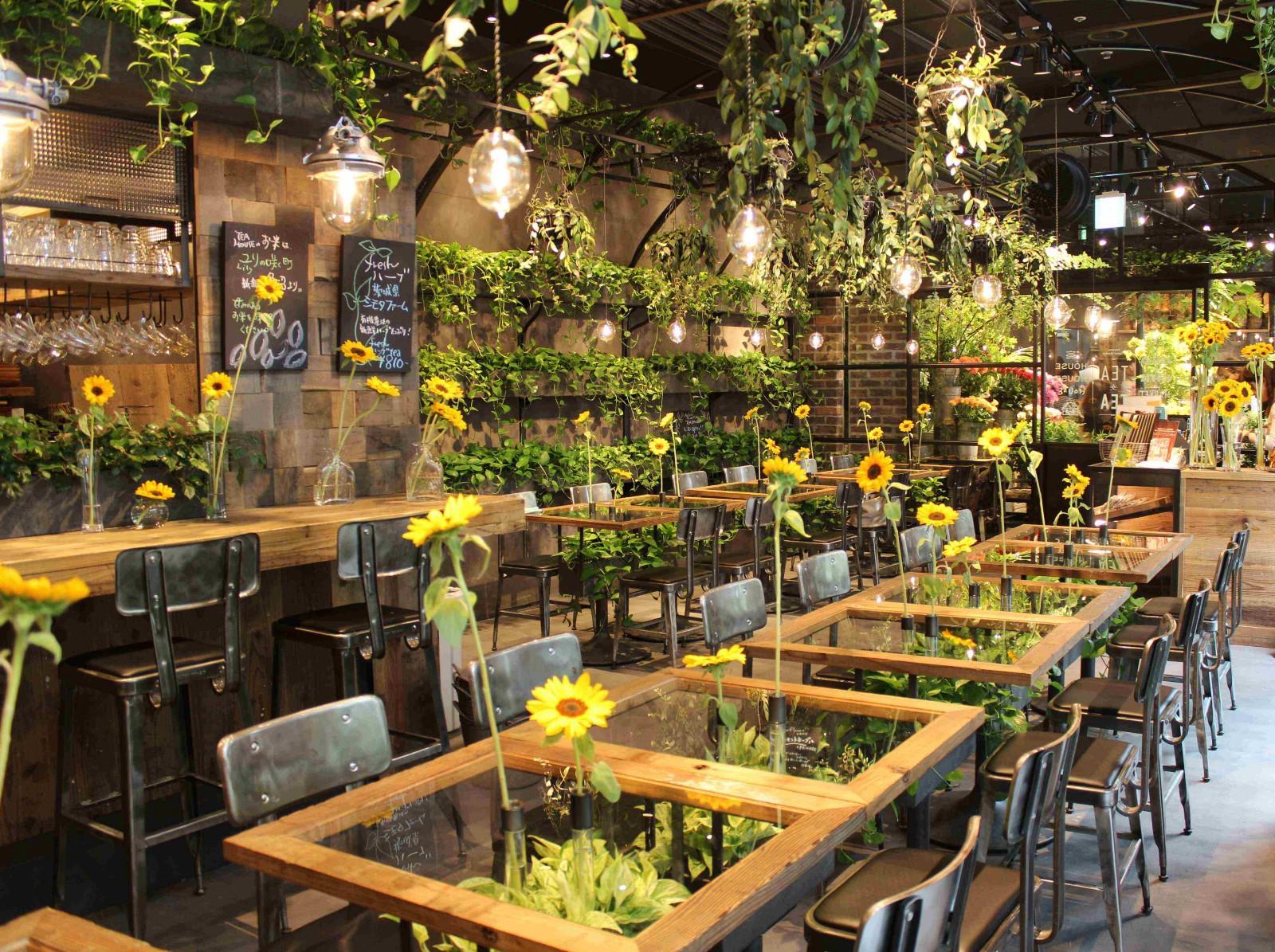 Aoyama Flower Market TEA HOUSE : the Beautiful Flower Cafe in Tokyo!