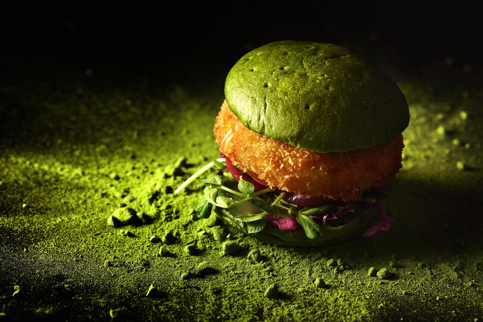 Matcha Taraba Crab Burger The Steakhouse