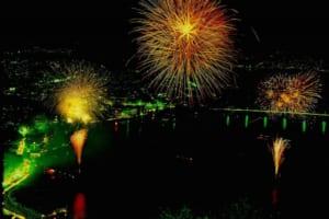 Fuji Five Lakes Fireworks Festivals