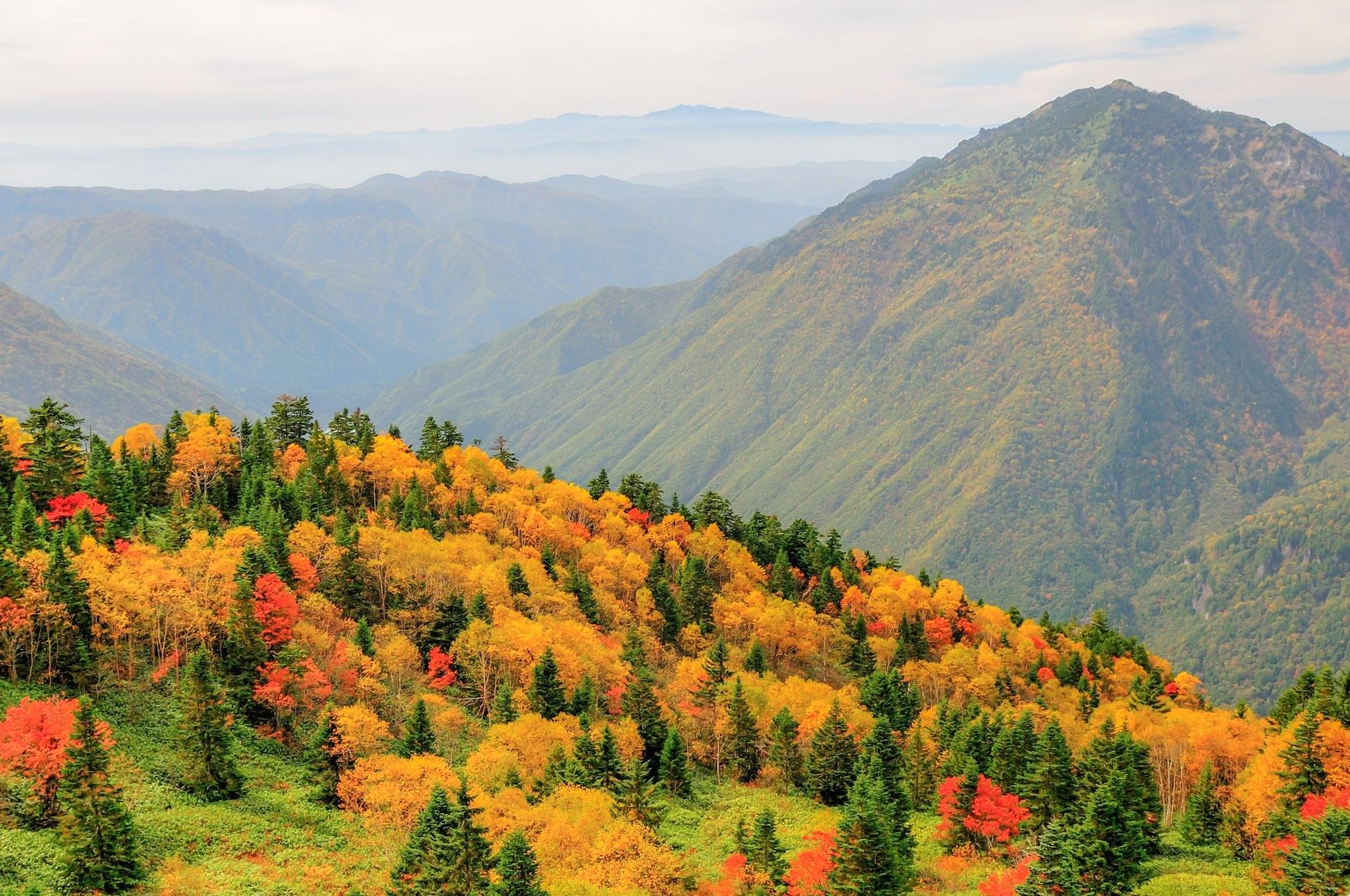 Panoramic views from Shinhotaka Ropeway