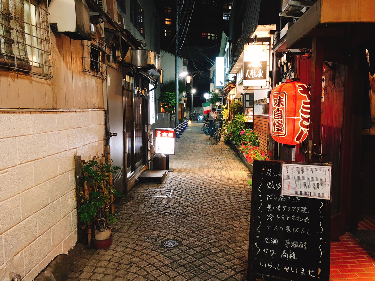 Izakaya alley in Kagurazaka
