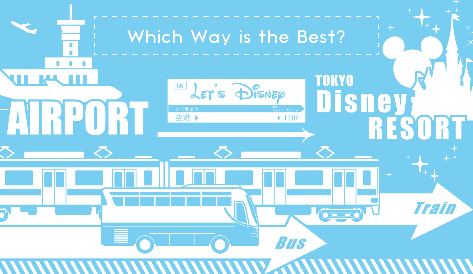 How to Get to Tokyo Disneyland and DisneySea by Bus or Train