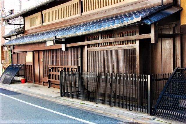 A traditional Machiya house in Kyoto