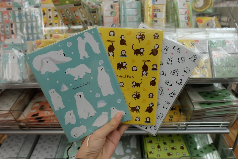Cute and colourful diary books at Daiso