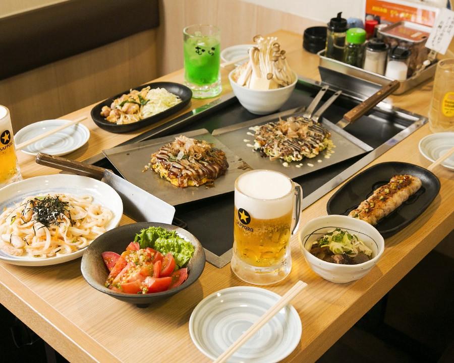 Okonomiyaki Mura Shibuya: Okonomiyaki All-You-Can-Eat