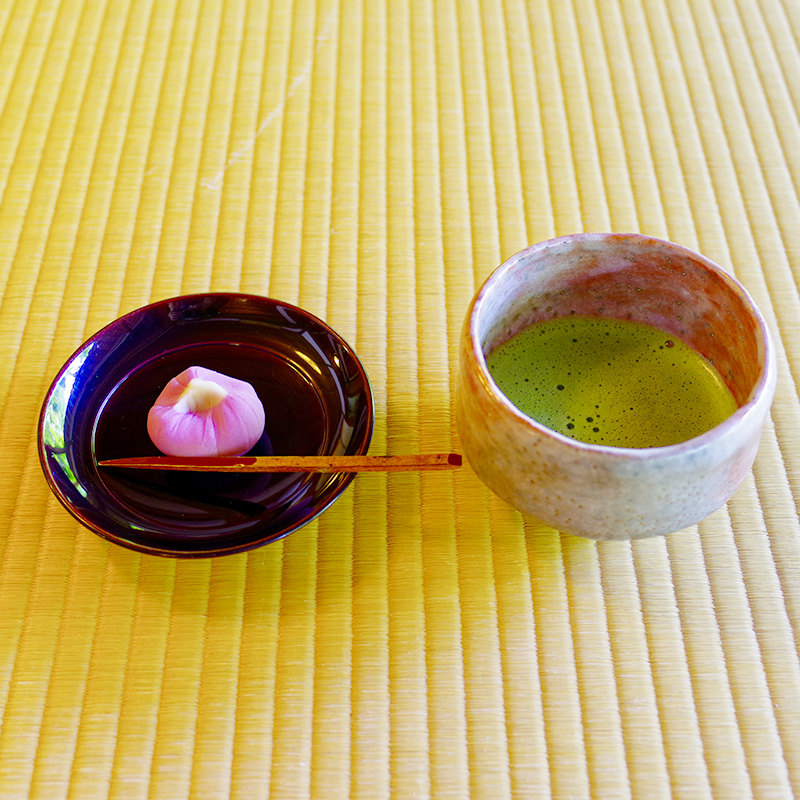 Matcha Green Tea and Japanese Traditional Desserts