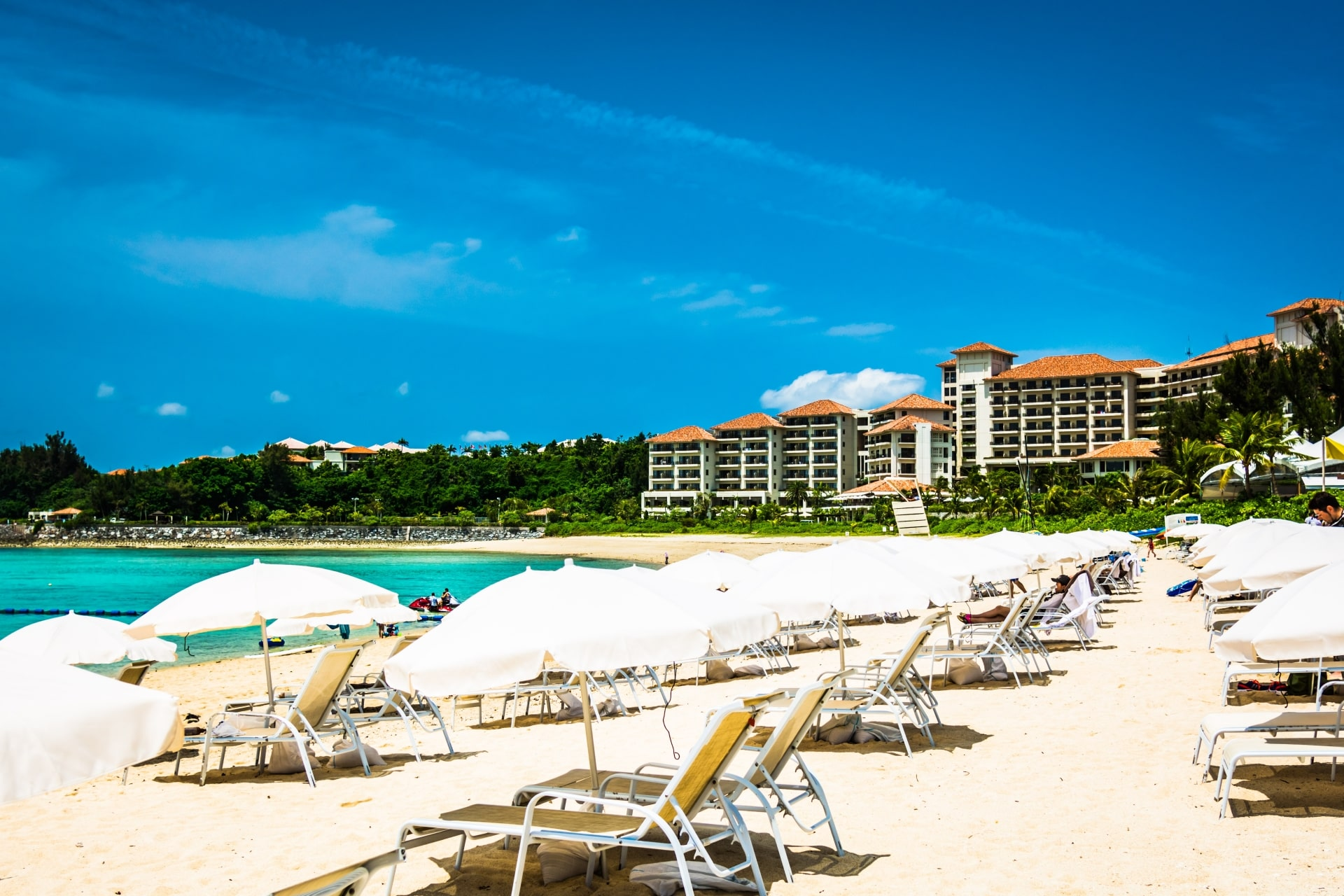 Beach resort in Okinawa