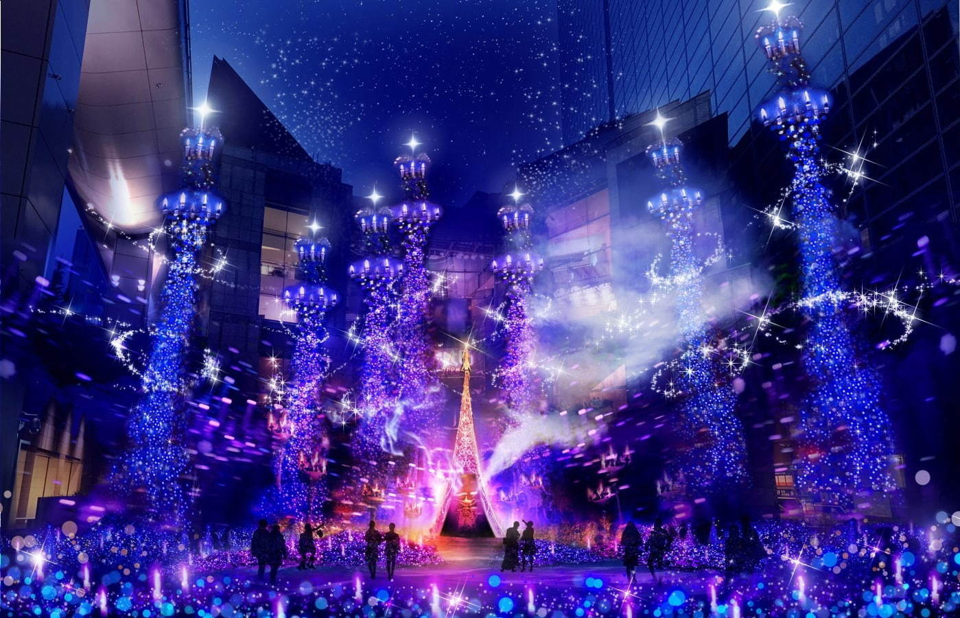 Caretta Shiodome Winter Illumination 2019–2020
